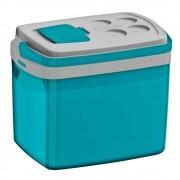 Caixa Térmica Tropical 32 L Porta Copos e Tampa Acesso Rápido - Azul