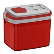 Caixa Térmica Tropical 32 Litros Tampa Acesso Rápido e Alça - Vermelha