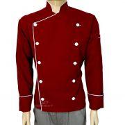 Dolma Chef de Cozinha  Vermelho/branco Oxford