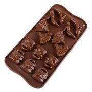 Forma Silicone Para Chocolate Moda Com 14 Cavidades