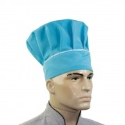 Touca Mestre Cuca Com Detalhe Listra Branca - Azul