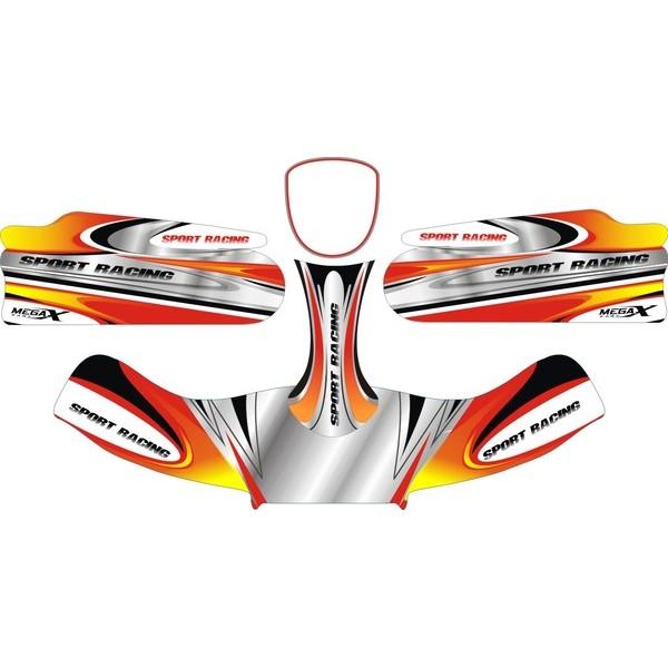 Carenagem Adesivada Conj. 2012 CBA Mod. 186 - 607  - Mega Kart