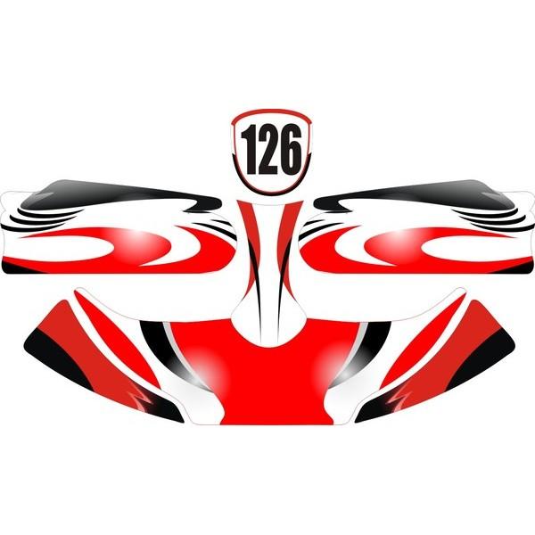 Carenagem Adesivada CBA 2012 MOD 126 - 607  - Mega Kart