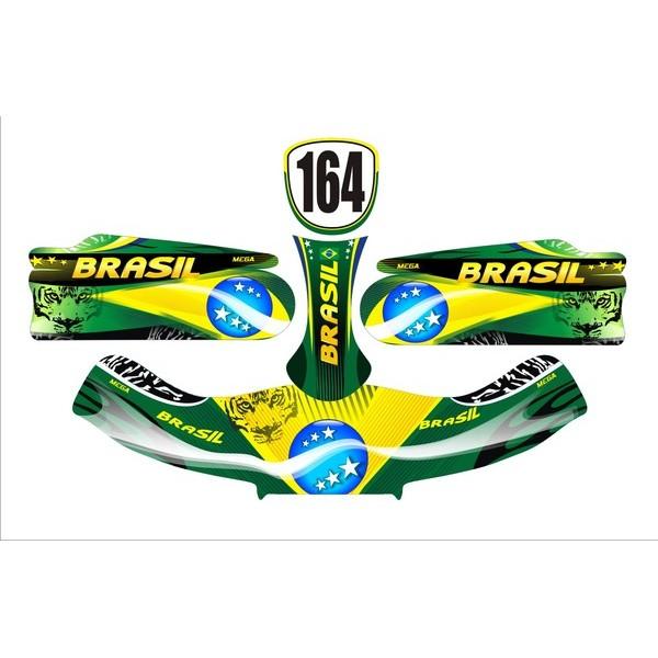Carenagem Adesivada CBA 2012 MOD 164 - 607  - Mega Kart