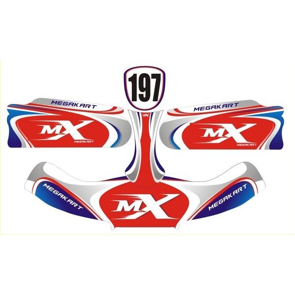 Carenagem Adesivada CBA 2012 MOD 197- 607  - Mega Kart