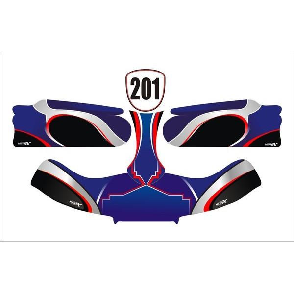 Carenagem Adesivada CBA 2012 MOD 201 - 607  - Mega Kart