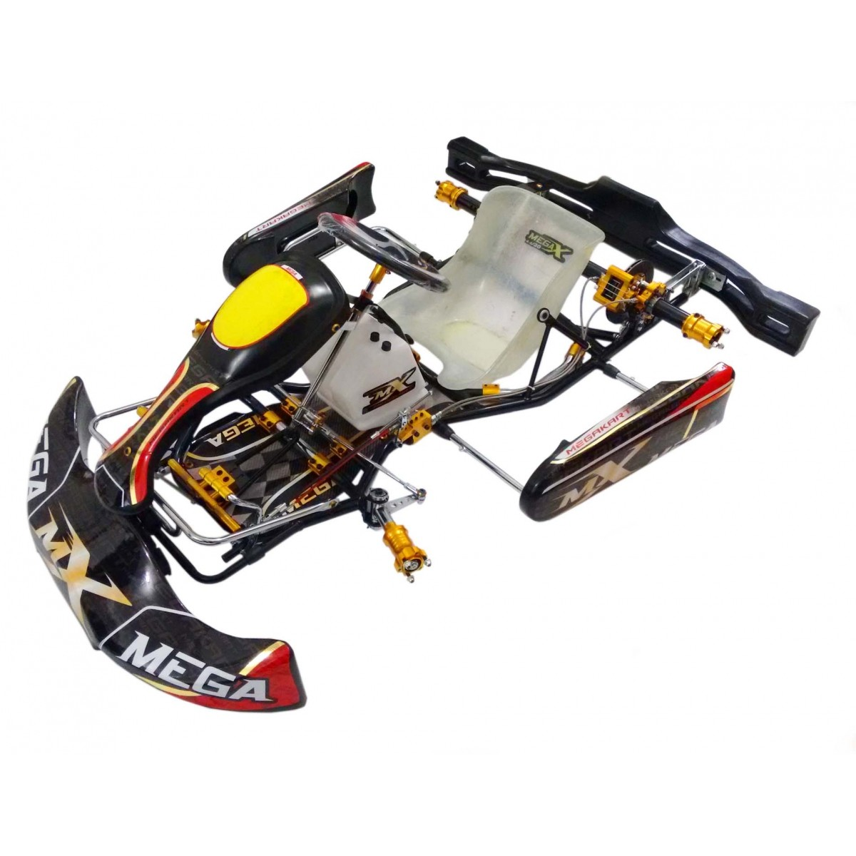 Kart Black Gold Shiffter  - 858  - Mega Kart
