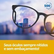 Flanela com efeito antiembacante para oculos, 500 aplicacoes