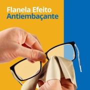 Flanela com efeito antiembacante para oculos ate 36h duração