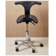 Kit 2 Cadeira Mocho Saddle Chair mod Abraccio preto Dentista