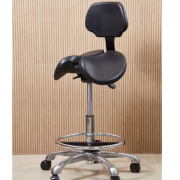 Kit 2 Cadeira Mocho Saddle Chair mod Supporto preto Dentista