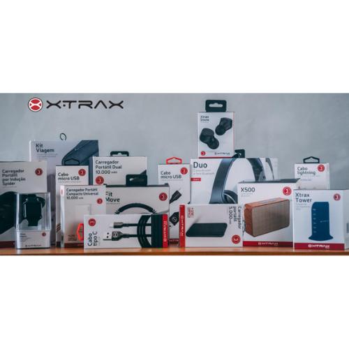 CARREGADOR PAREDE UNIVERSAL XTRAX 3entrada USB 3anos garante