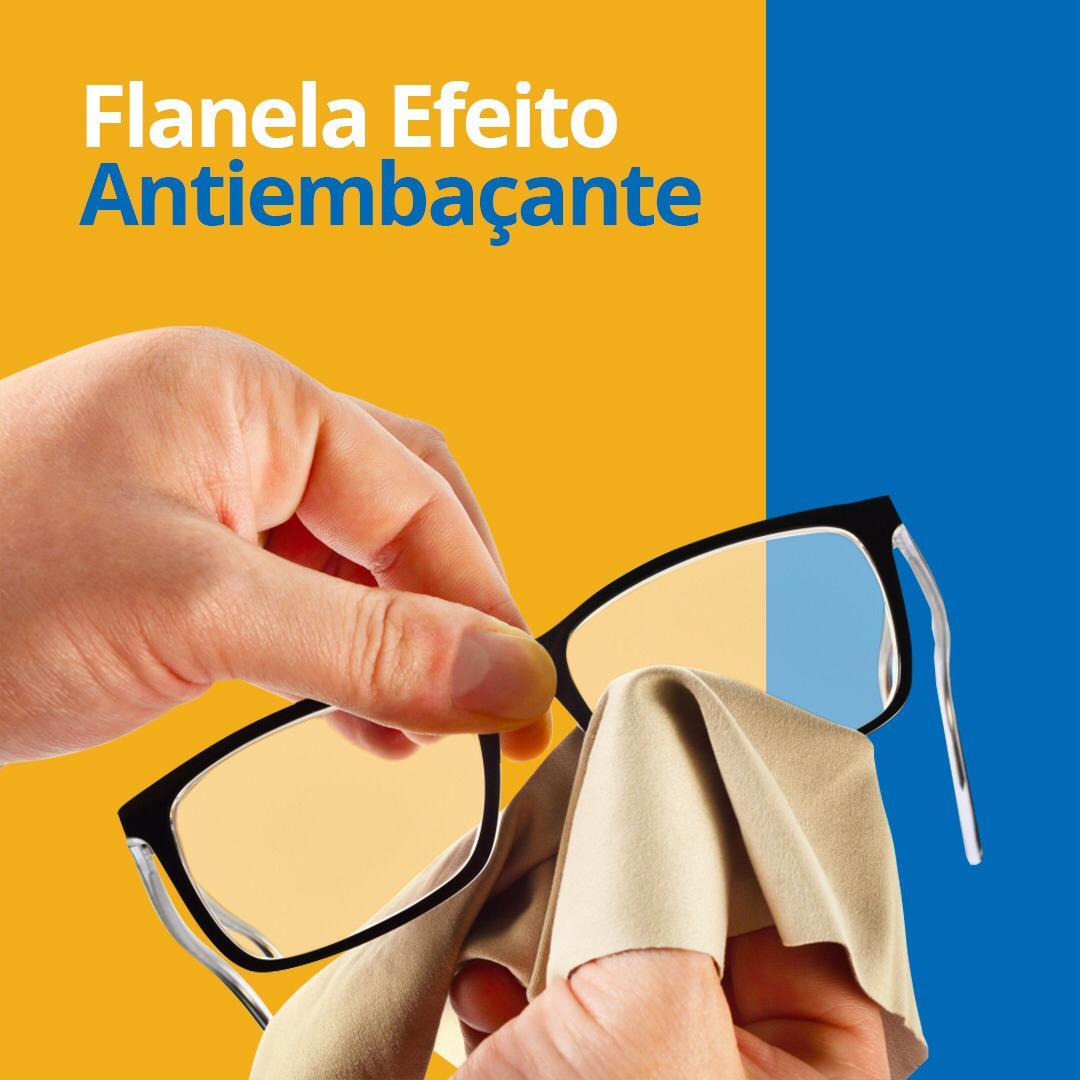 kit 3 Flanelas com efeito antiembacante para oculos dura 36h