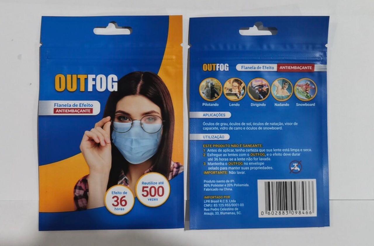 kit 6 Flanelas antiembacante para oculos dura 36h 500 aplica