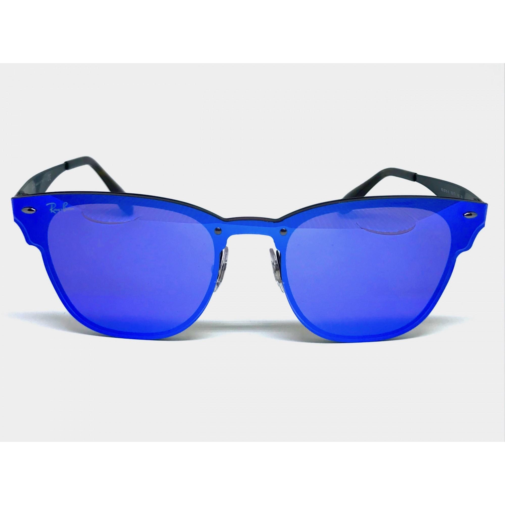 af691ced4104b ... Oculos de sol RAY BAN Blaze Clubmaster RB3576N 153 7V 41 - Majestic  Oculos