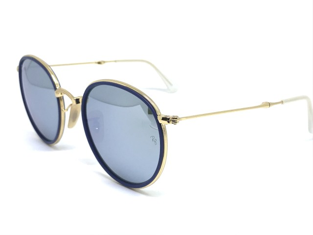 fe6760024 Óculos de Sol Ray Ban RB 3517 001/30 51 Round Dobrável| Majestic Óculos