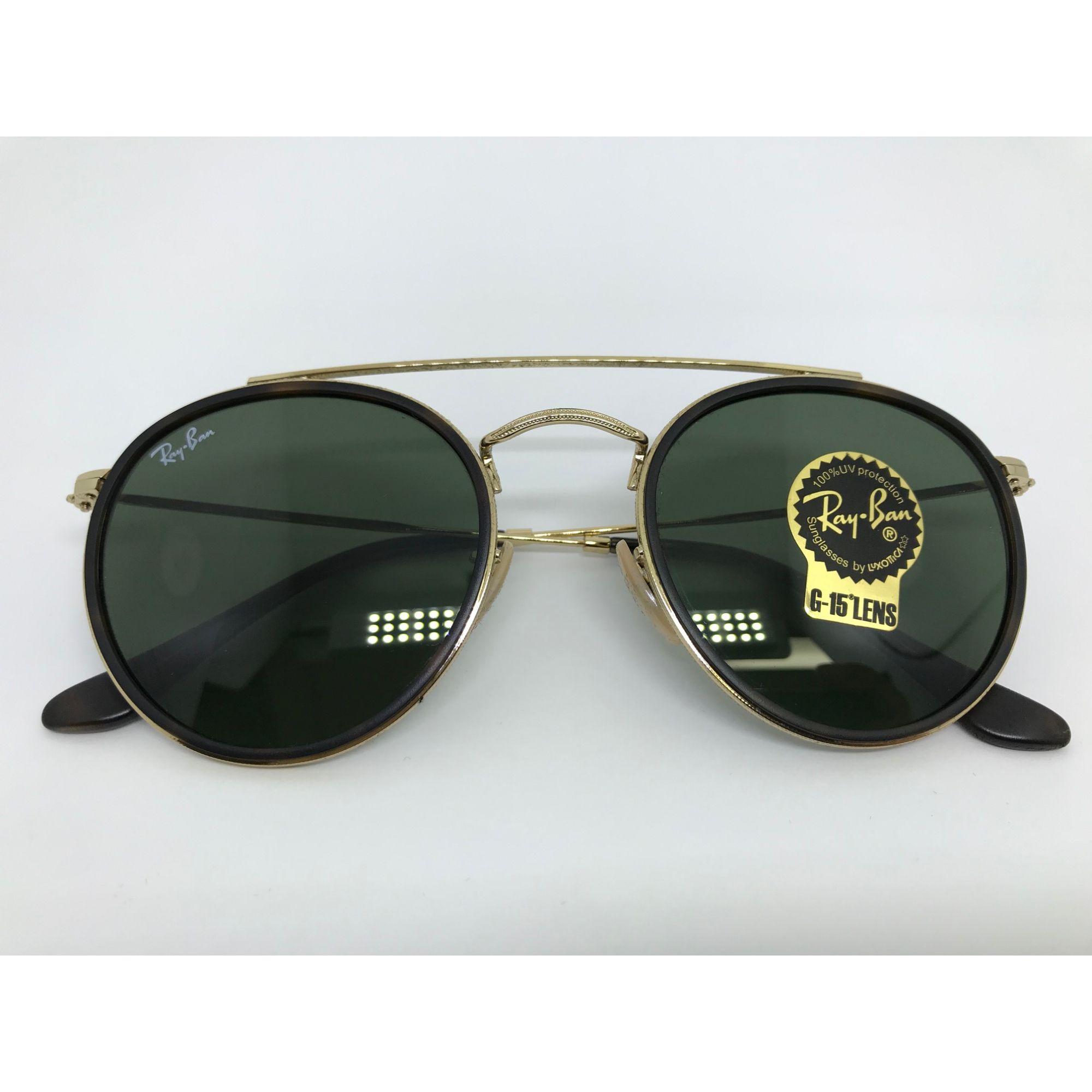 56da32426ec4a Oculos de sol Ray Ban Round Double Bridge RB 3647N 001 51