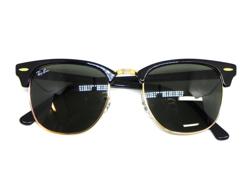 ad4d10de9d946 ... Oculos de sol Clubmaster Ray Ban RB 3016L W0365 51 - Majestic Oculos