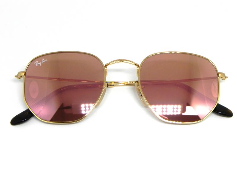 Oculos de sol Ray Ban Hexagonal RB 3548N 001 Z2 51 - e335117060