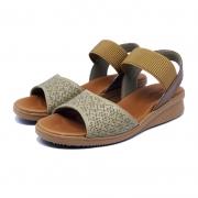 Sandália Elástico Comfort Plus de Couro Usaflex