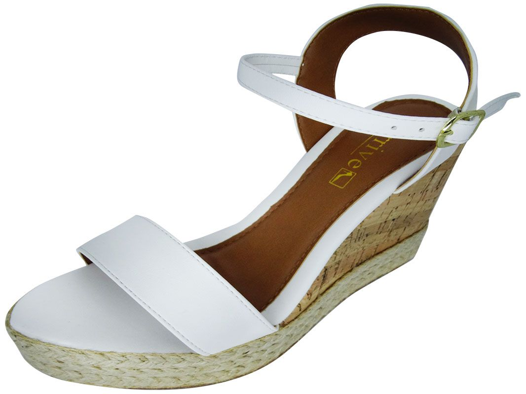 Sandália anabela alta