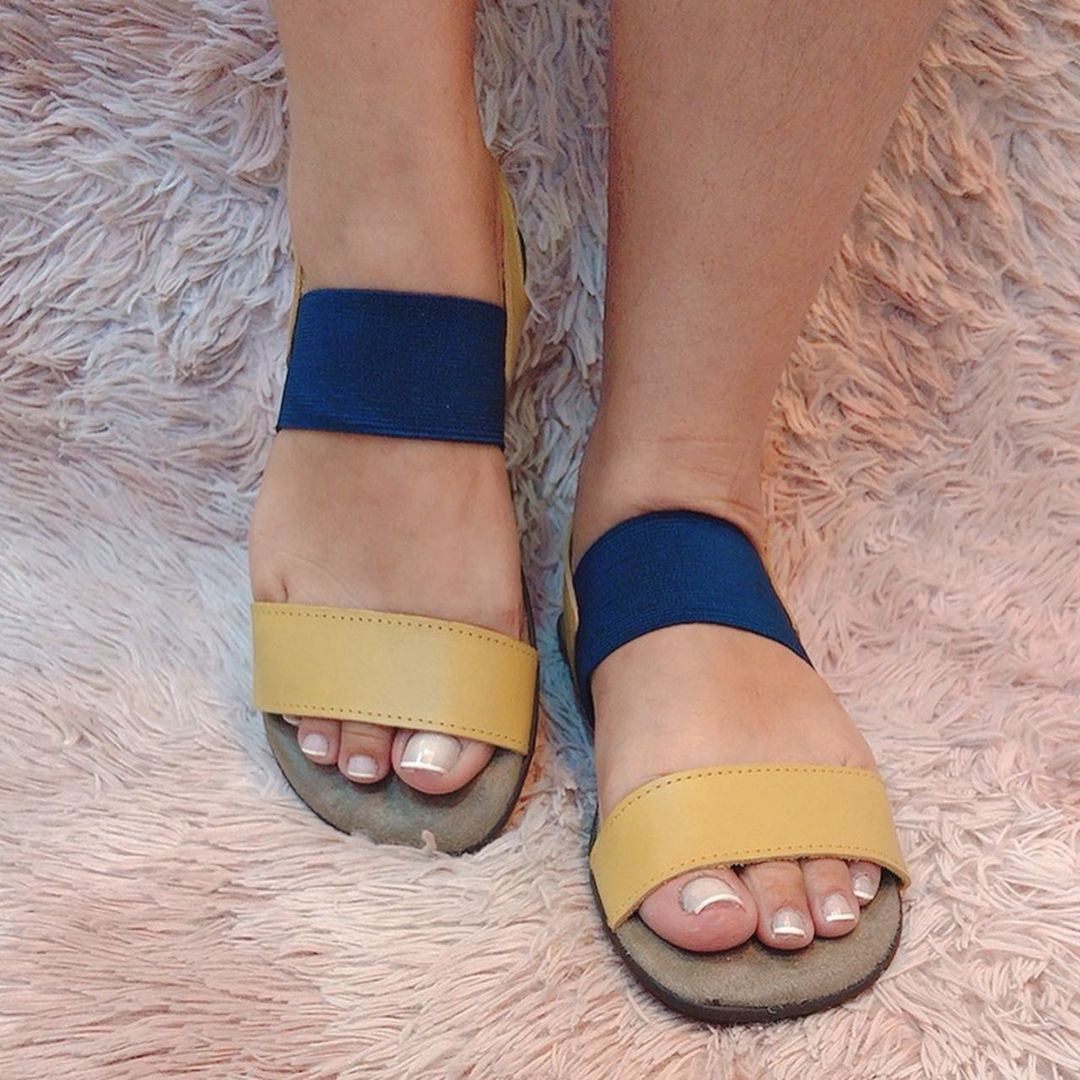 Sandália Comfort tira grossa traseira