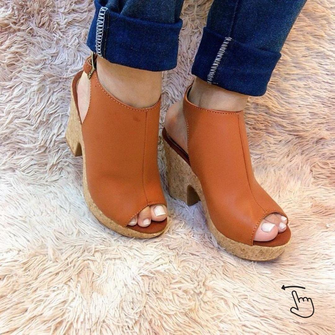 Sandália meia pata cortiça