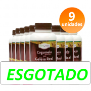 COGUMELO C/ GELEIA REAL 9 FRASCOS + BRINDE + FRETE GRÁTIS