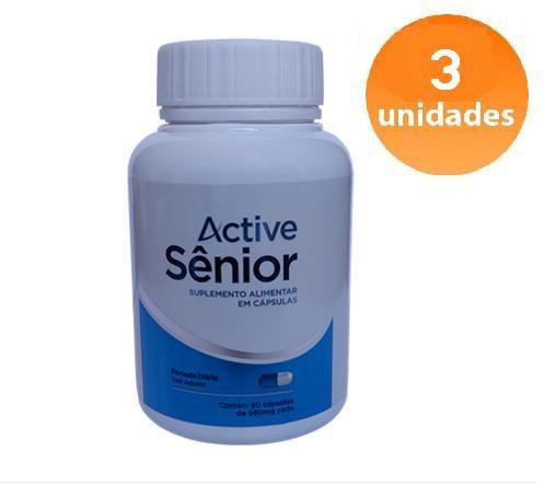 ACTIVE SÊNIOR - 3 FRASCOS - FRETE GRÁTIS