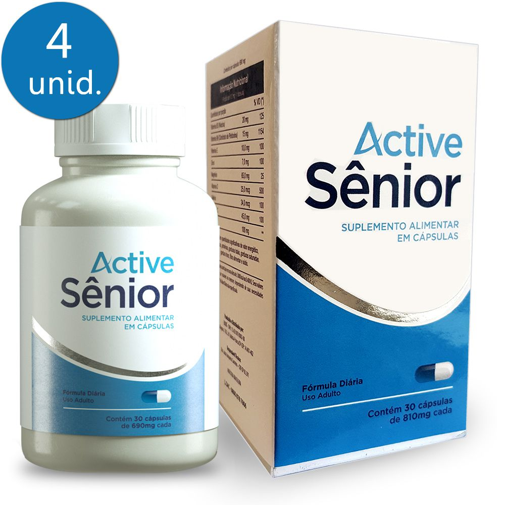 Active Sênior 690mg 30 Cápsulas 4 Frascos
