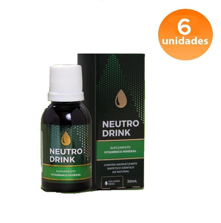 NEUTRO DRINK - 6 FRASCOS - FRETE GRÁTIS