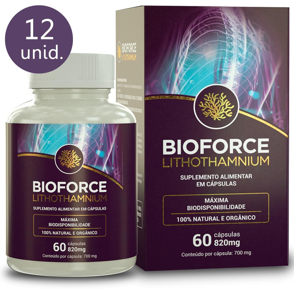 Bioforce Lithothamnium 820mg 60 cápsulas (12 frascos)