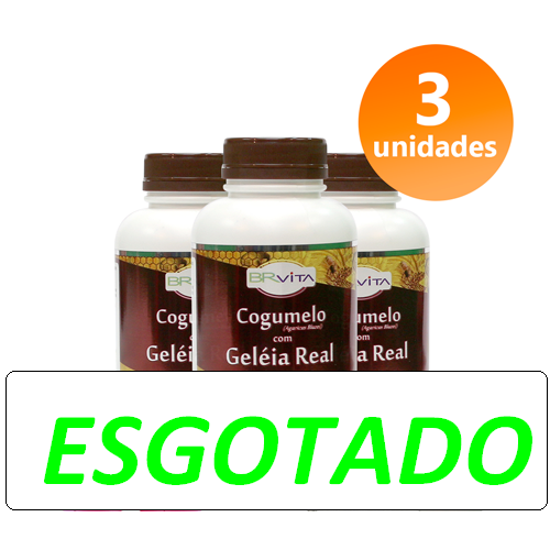 COGUMELO C/ GELEIA REAL 3 FRASCOS + BRINDE + FRETE GRÁTIS
