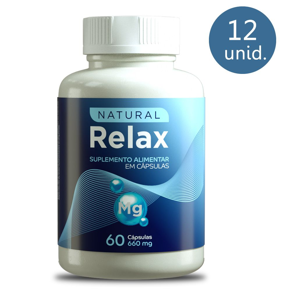 Natural Relax 660mg 60 Cápsulas 12 Frascos