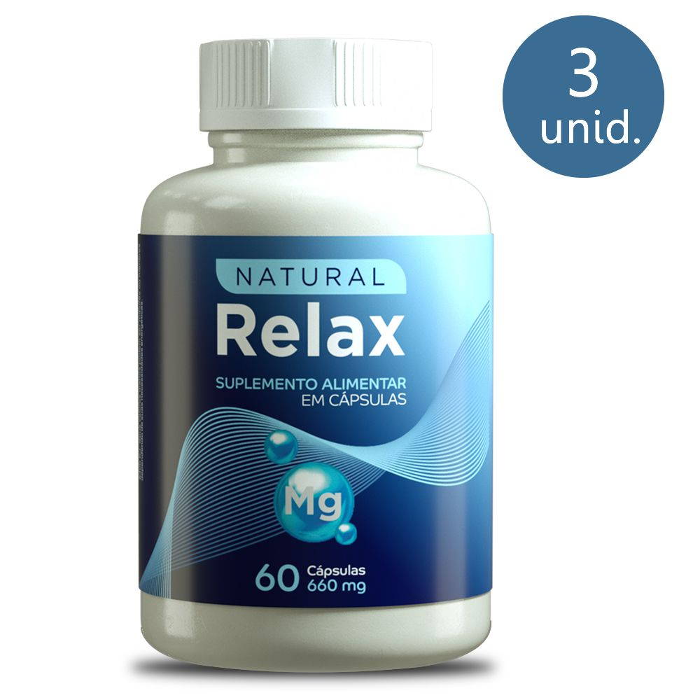 Natural Relax 660mg 60 Cápsulas 3 Frascos