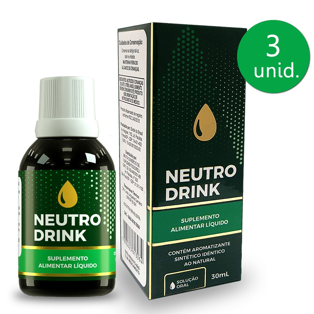 Neutro Drink 30ml Gotas 3 Frascos
