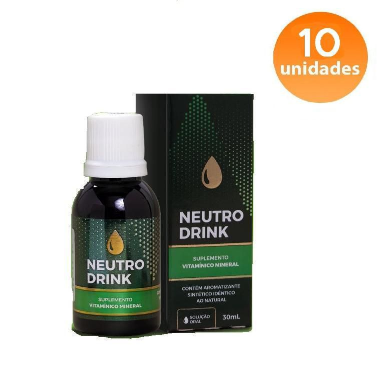 NEUTRO DRINK - 10 FRASCOS - FRETE GRÁTIS