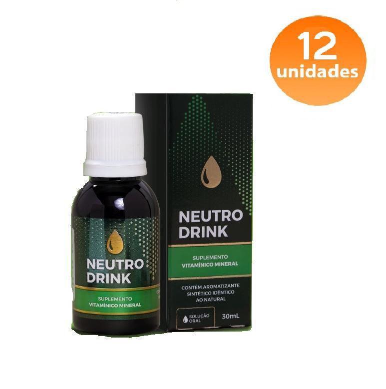 NEUTRO DRINK - 12 FRASCOS - FRETE GRÁTIS