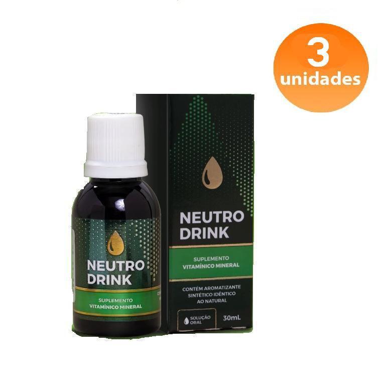 NEUTRO DRINK - 3 FRASCOS - FRETE GRÁTIS