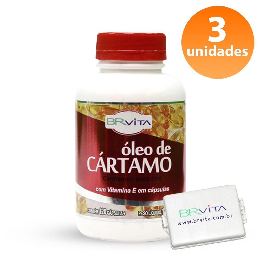 ÓLEO DE CÁRTAMO 3 FRASCOS + BRINDE + FRETE GRÁTIS