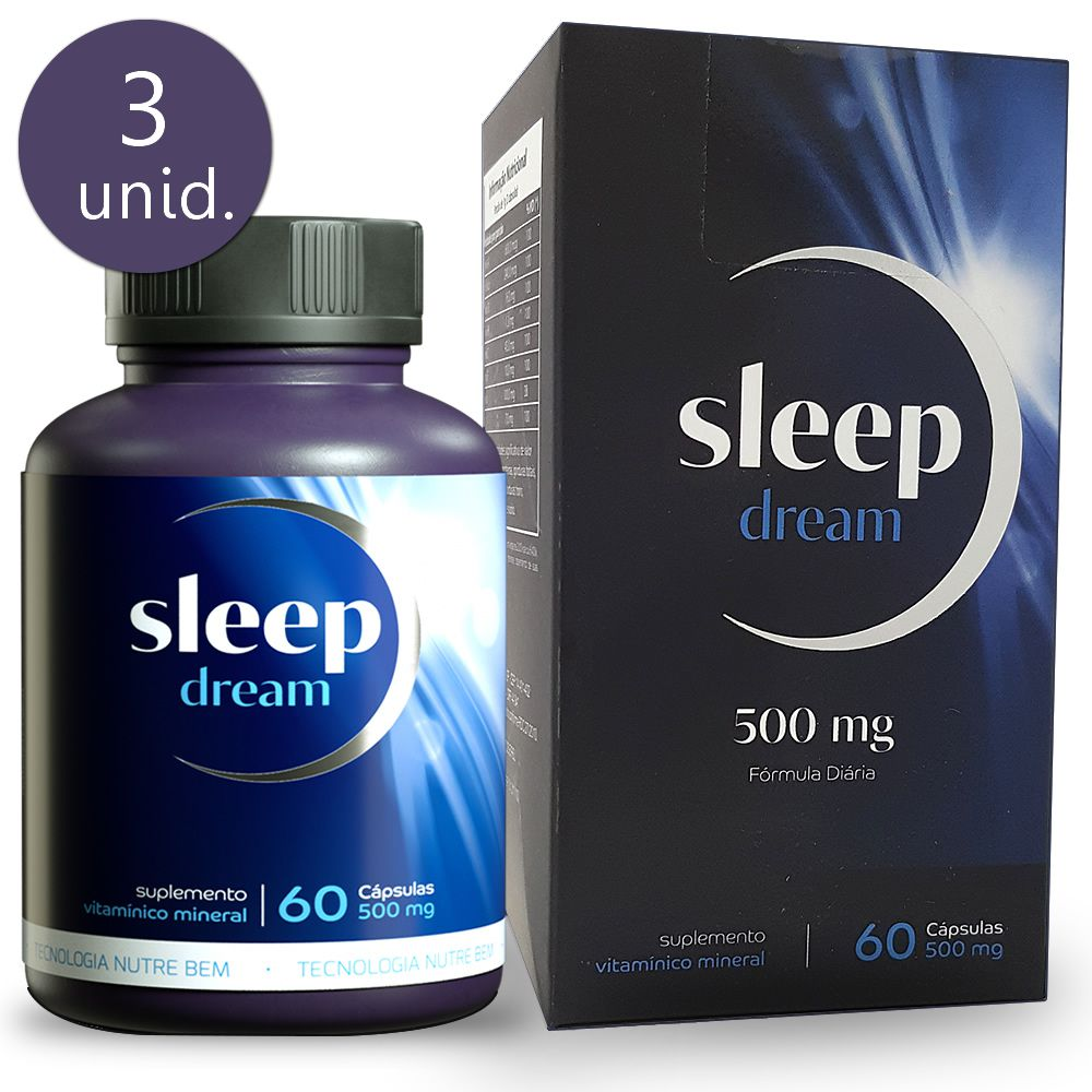 Sleep Dream 500mg 60 Cápsulas 3 Frascos
