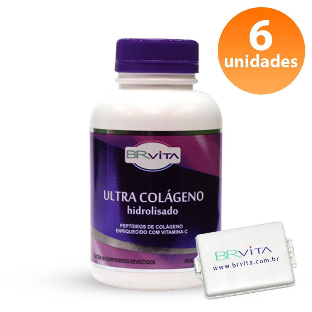 Ultra Colágeno - 6 FRASCOS + BRINDE + FRETE GRÁTIS