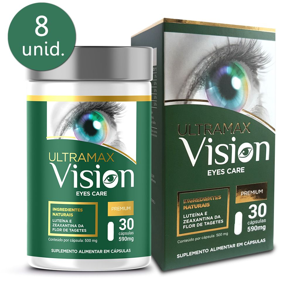 Ultramax Vision 590mg 30 cápsulas 8 frascos