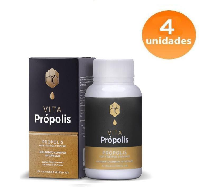 VITA PROPOLIS - 04 FRASCOS - FRETE GRÁTIS