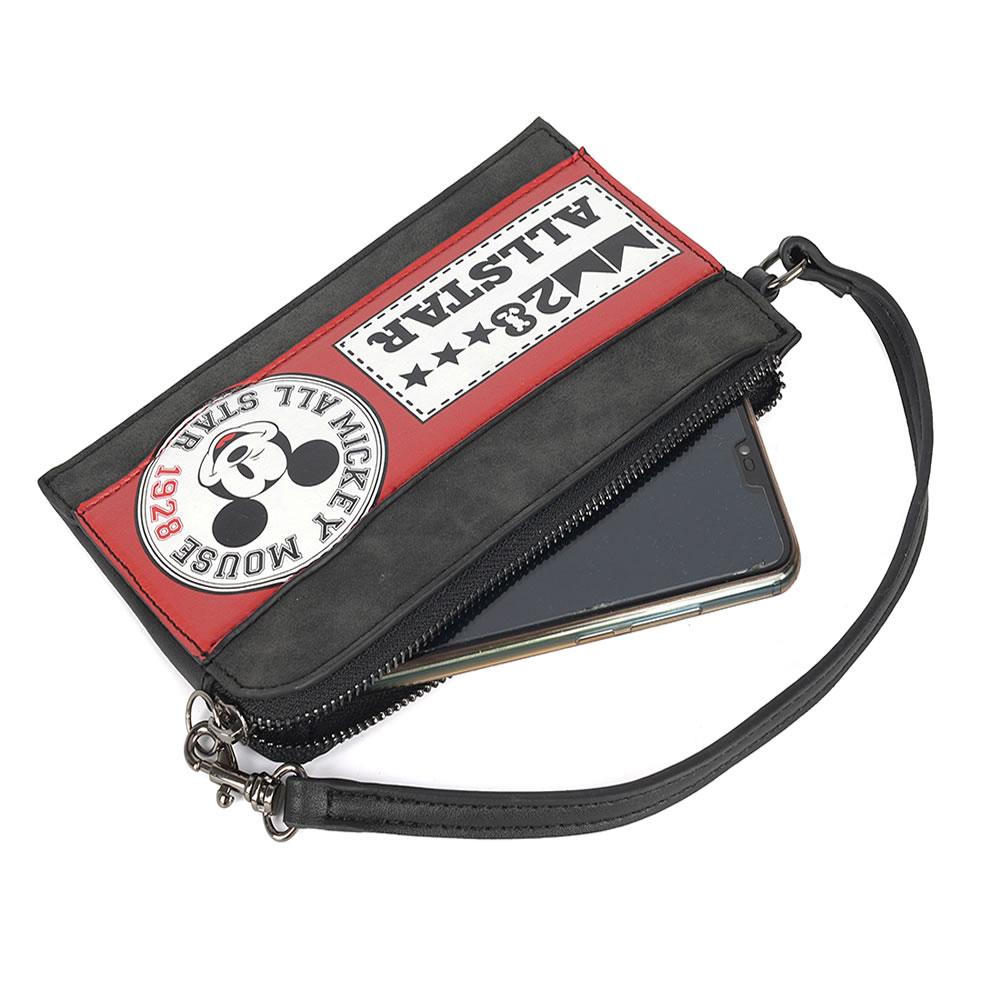 Bolsa de Mão e Porta Celular Necessáire Mickey Linda Preto