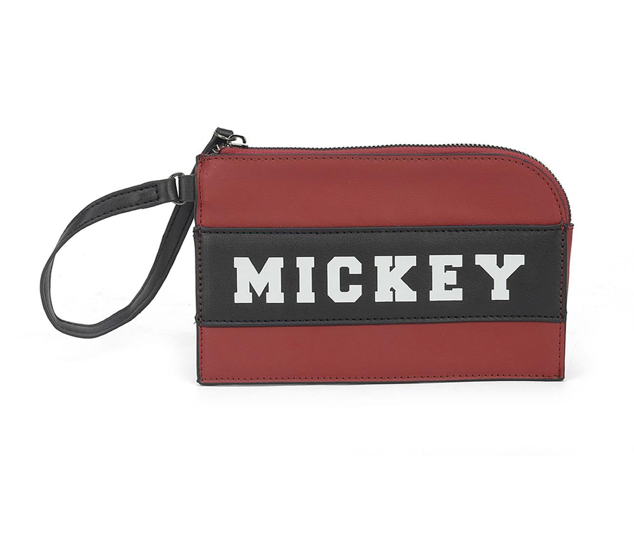 Bolsa de Mão e Porta Celular Necessáire Mickey Linda Vermelho