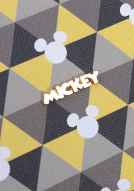 Bolsa Feminina Baú de Mão e Transversal Mickey Amarelo