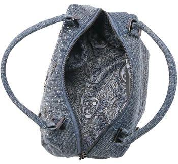 Bolsa Feminina de Mão e Transversal Jeans Chic Chenson Azul