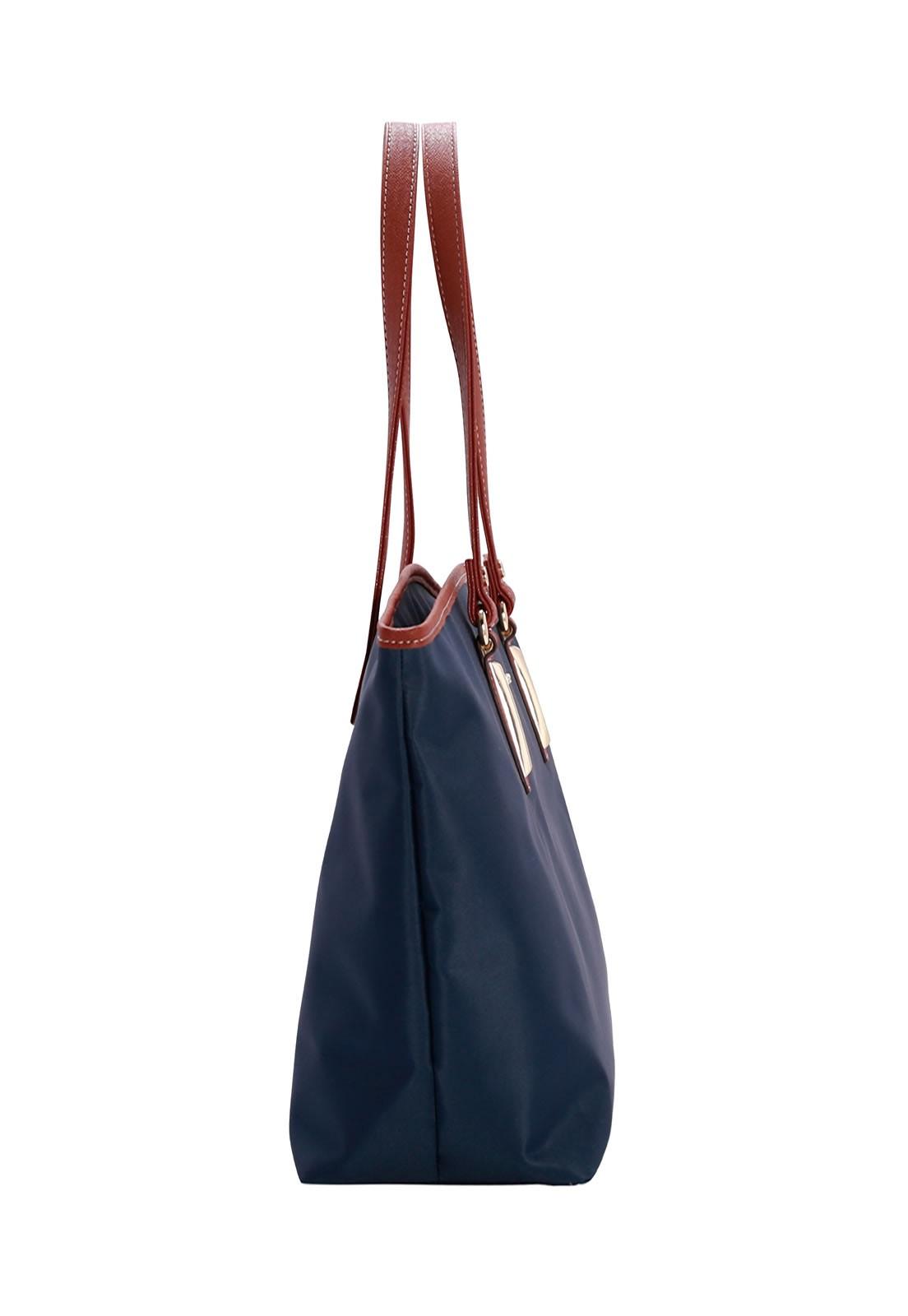 Bolsa Feminina de Ombro Microfibra Chenson Azul