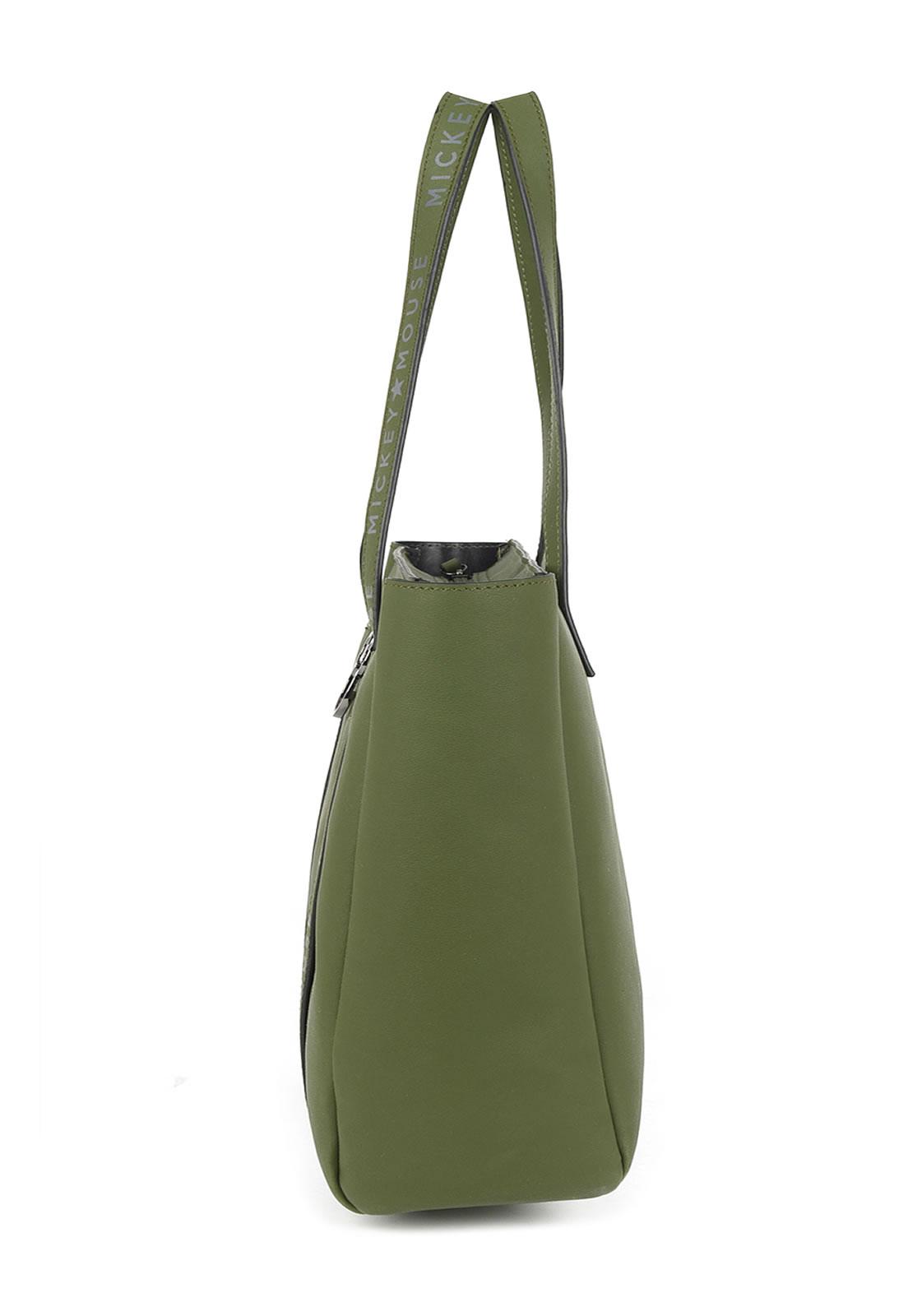 Bolsa Feminina de Ombro Tote Bag Mickey Verde Linda